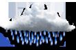 Ícone de condição de tempo: Chuvisco