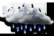 Ícone de condição de tempo: Encoberto com Chuvas Isoladas